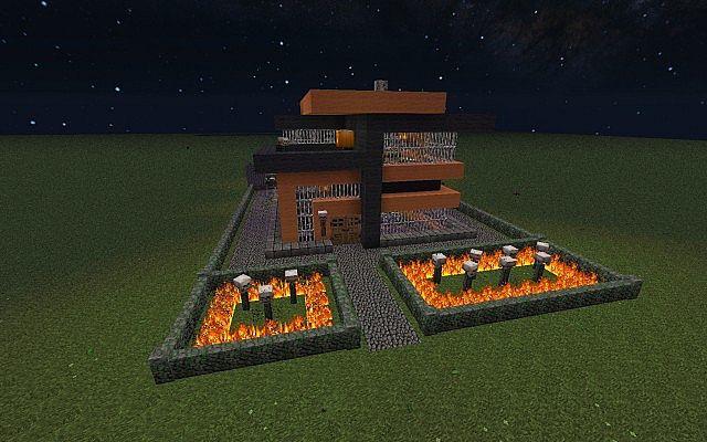 Modern Halloween House Minecraft Project