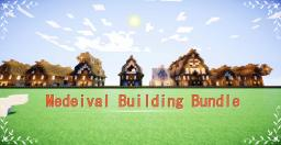 -Detailed Medeival Building Bundle- Minecraft Map & Project