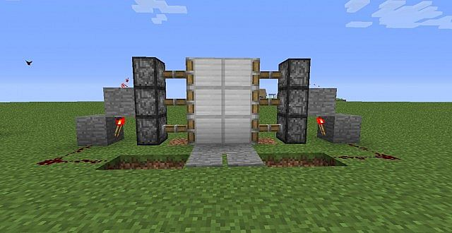 The Door. & Compact easy 3 x 1 piston door! Minecraft Project Pezcame.Com
