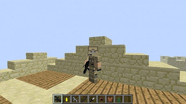 I am holding the bow which looks like a machine gun