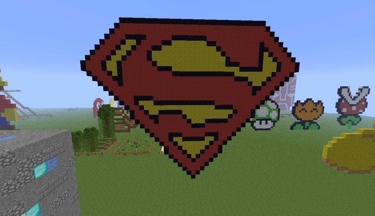 Superman logo minecraft project - Signe de superman ...