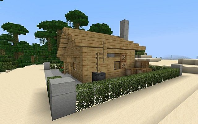 Small Stodio House Wooden Modern Minecraft Project