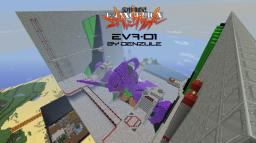 EVA-01 in its cage [Evangelion] Minecraft Project