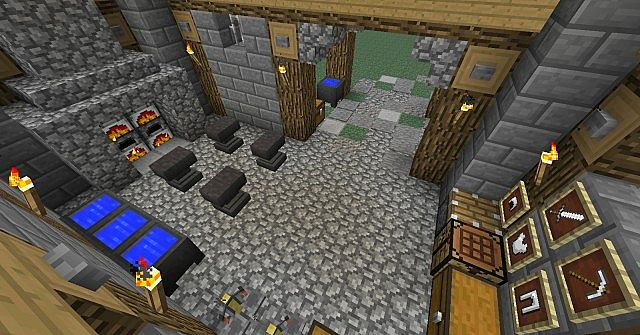 Medieval Blacksmith and House Minecraft Project