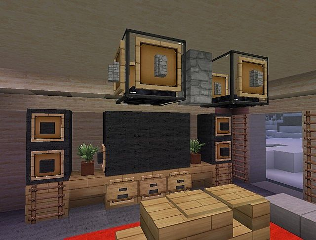 minecraft interior design modern house