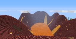 HALLOWEEN SPECIAL - Nether Island Terrain with Ocean of Corro and Lake of PMC Minecraft Map & Project