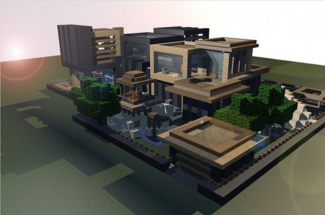 Modern house minecraft project for 4d designs beach house