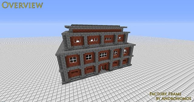 House Building Minecraft Factory Building Frame Minecraft