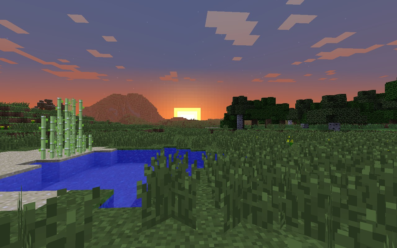 Minecraft Wallpaper Sunset Minecraft Blog