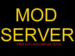 Windows Mod Server Setup