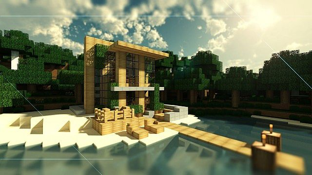 Small modern beach home minecraft project for Small modern beach house