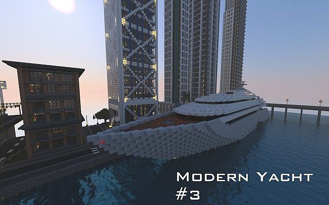 Modern Yacht 3 Fantasia Minecraft Project