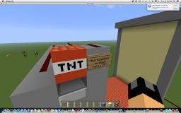 Simple Automatic TNT Cannon Minecraft Map & Project