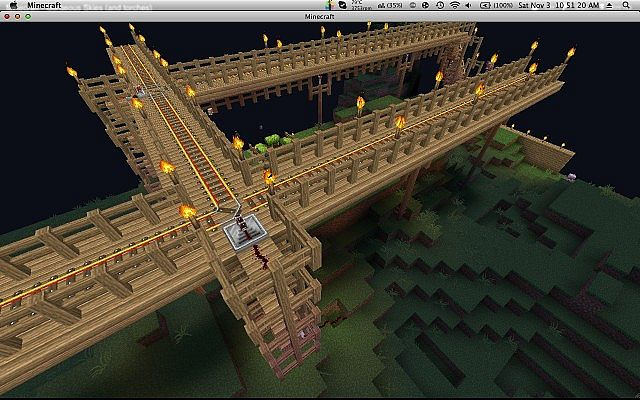 how to build railway tracks in minecraft