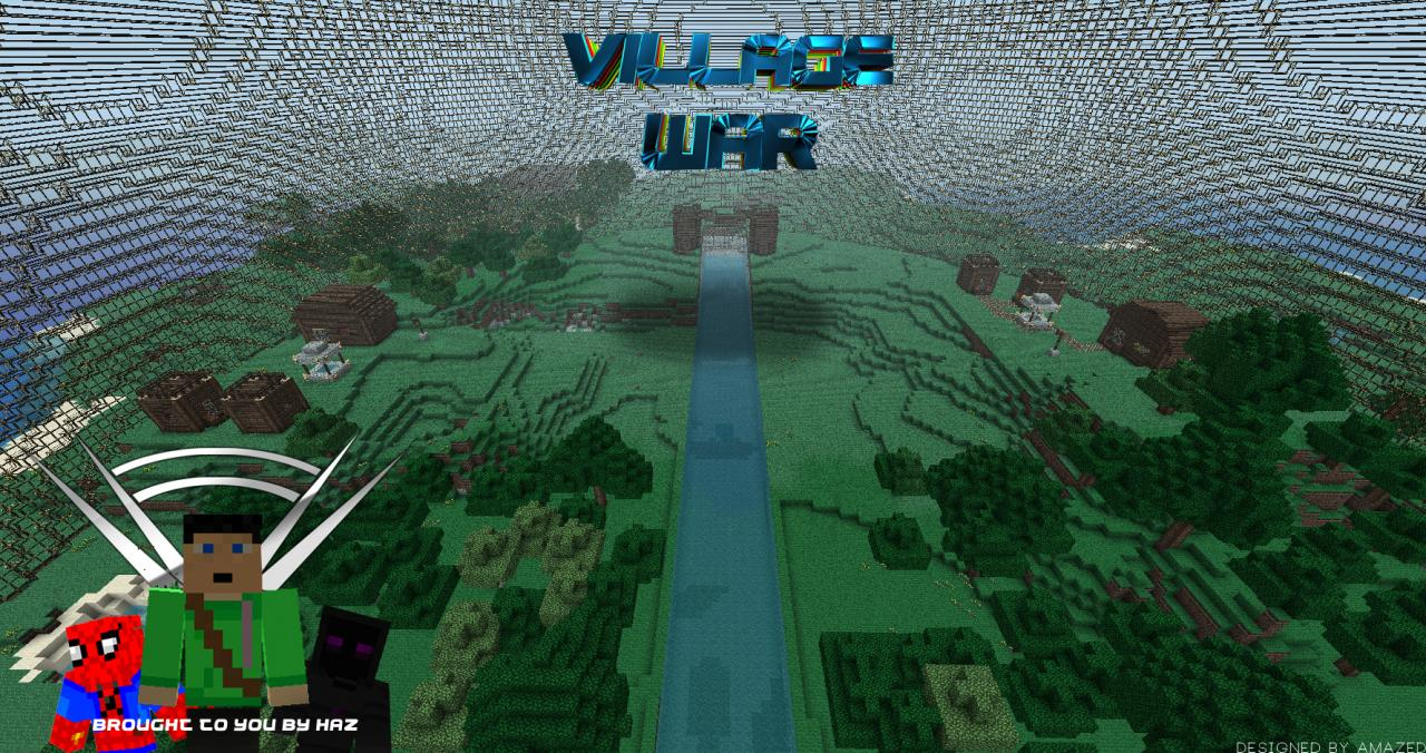 Minecraft Village War 2 Teams pvp map Minecraft Project