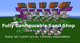 Easily Configurable Sand Shop (set custom prices) Minecraft Map & Project