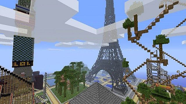 The Eiffel Tower, the first spawn of fCraft.net CMP