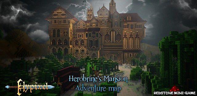 Скачать Карту Herobrine Mansion для Minecraft 1.5.2