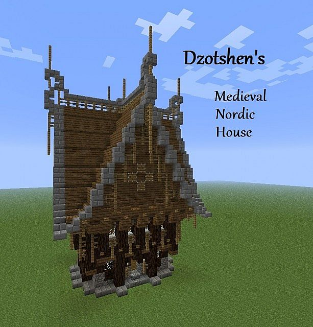 Medieval Nordic Ornate House Minecraft Map
