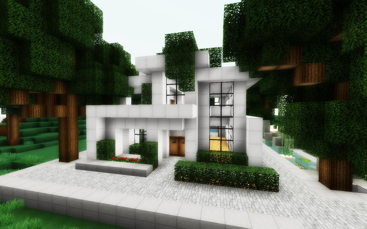 Simple modern house minecraft project - Simple modern house ...