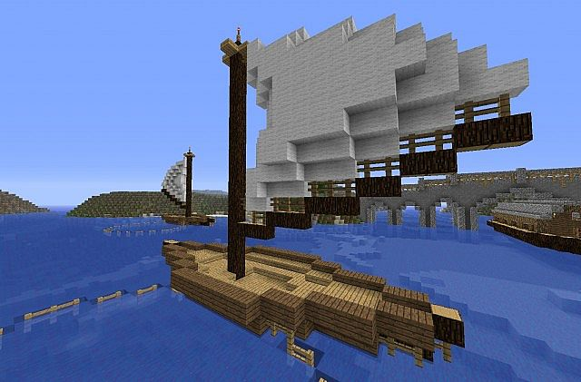 Small Fishing Boat Minecraft Project