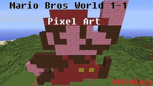 Super Mario Bros World 1 1 Pixel Art Minecraft Map