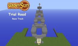 Golden Sun Trial Road Race Track Minecraft Map & Project