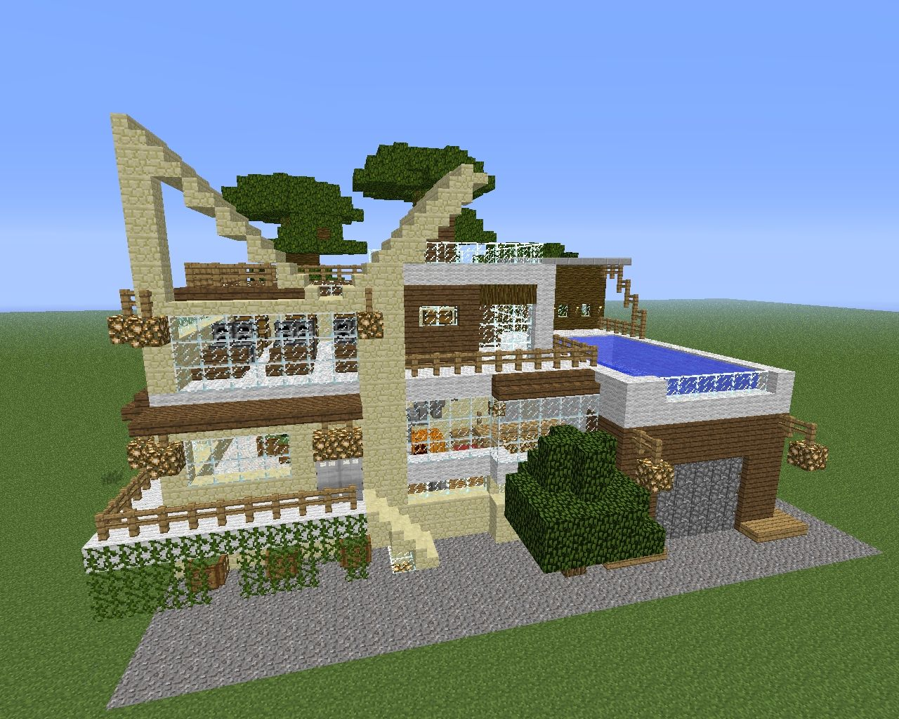 Modernes haus minecraft project for Minecraft modernes haus 20x20