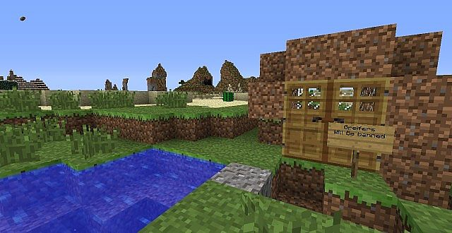 minecraft redstone dirt house map download