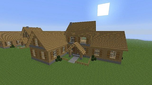 Modern wood house minecraft project for Simple modern wood house