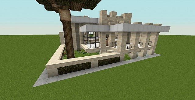 Modern house 20x20 plot minecraft project for 20x20 house