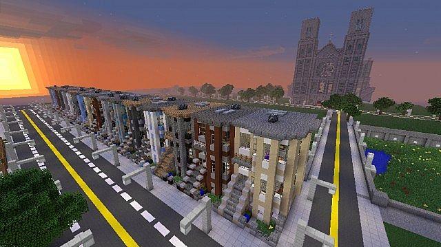 Brooklyn Brownstones Minecraft Project