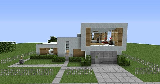 Modern house for your map minecraft project for Modern house map