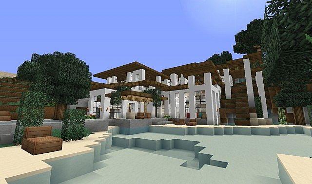 Modern villa modern italian style minecraft project for Villa style moderne