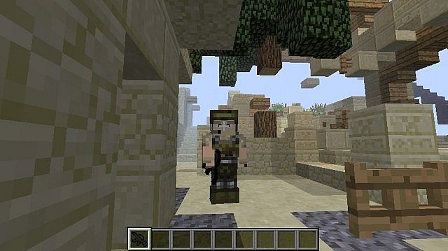 And the iron armor which is just plain camo! Also if there is a parachute if you have the parachute mod installed.