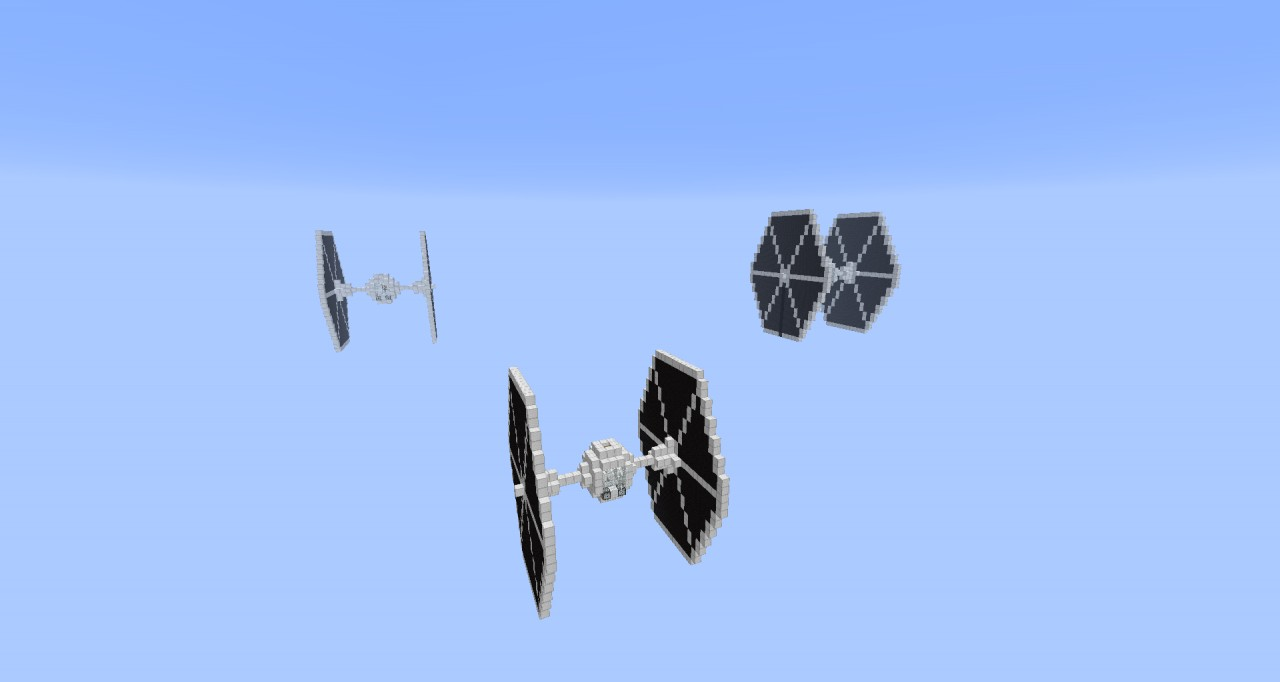 Star Wars - Tie Fighter [Schematic] Minecraft Project Tie Fighter Schematic on tie advanced, tie phantom, y-wing schematic,