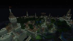 Flying city of New Haendel Minecraft