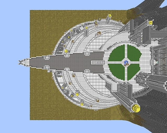 Minas Tirith Full Scale Lord Of The Rings Minecraft Project