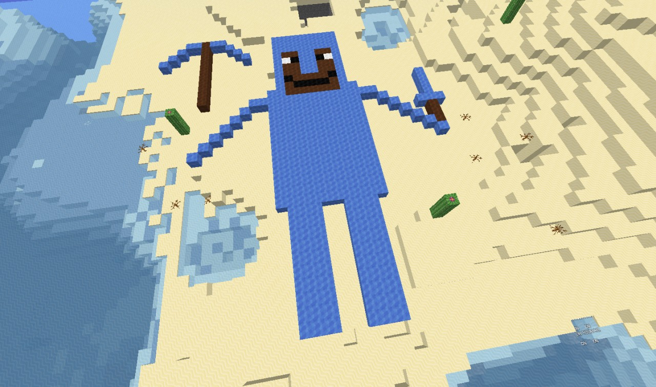 Steve In Diamond Armor Minecraft Project