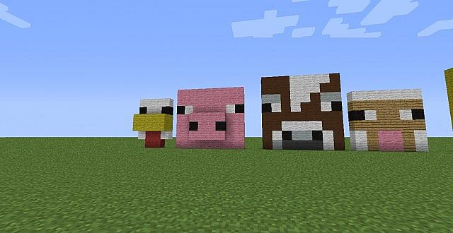 Animal  Mob Head U0026 39 S Minecraft Project