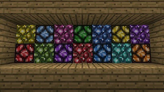 A Few Coloured Glowstone And Some Lamps