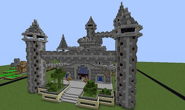 minecraft how to build a fire castle
