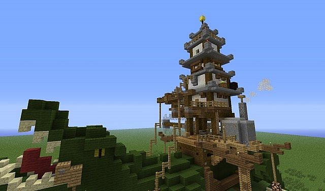 We have a pagoda on our crocodile to signify our culture!