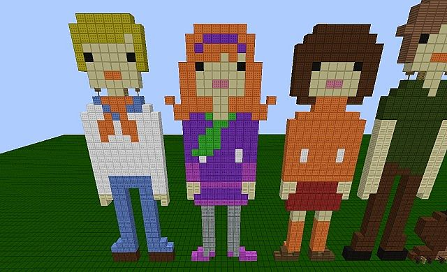 Scooby Doo and the Crew (Mystery Gang) Minecraft Project