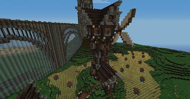 medieval windmi... Minecraft Windmill Farm