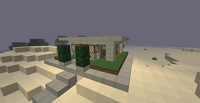 10x10 Modern house Design Minecraft Project