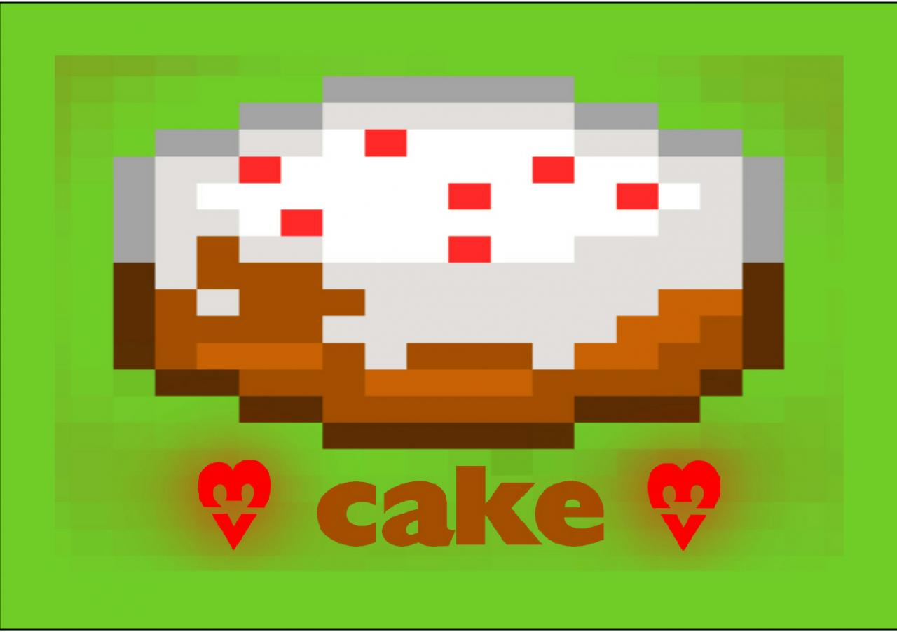 Cake Pixel Art Wallpaper Minecraft Blog