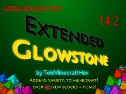 Extended Glowstone V1.0 [1.4.2] [ Adds Coloured Glowstone, Lamps and more! ] [Forge] *Needs review!* Minecraft Mod