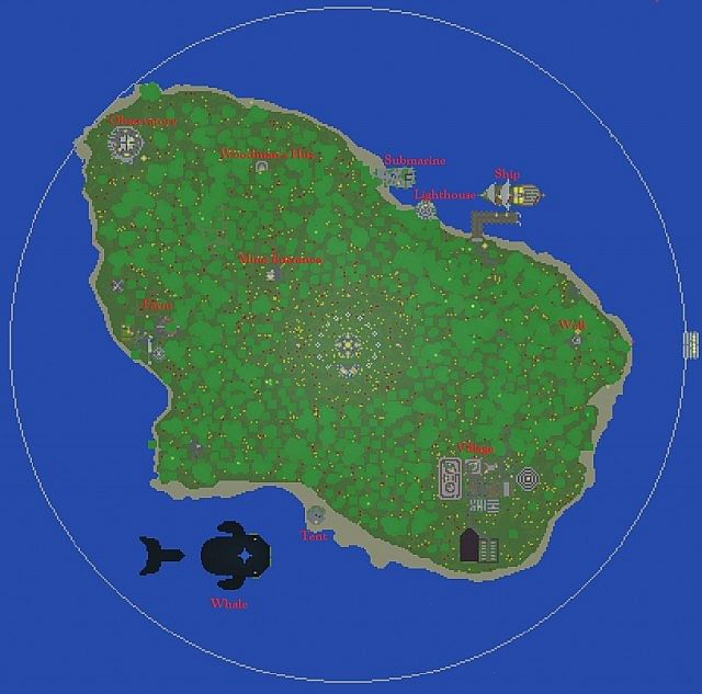Abandoned island small hunger games map minecraft project birdseye map publicscrutiny Choice Image