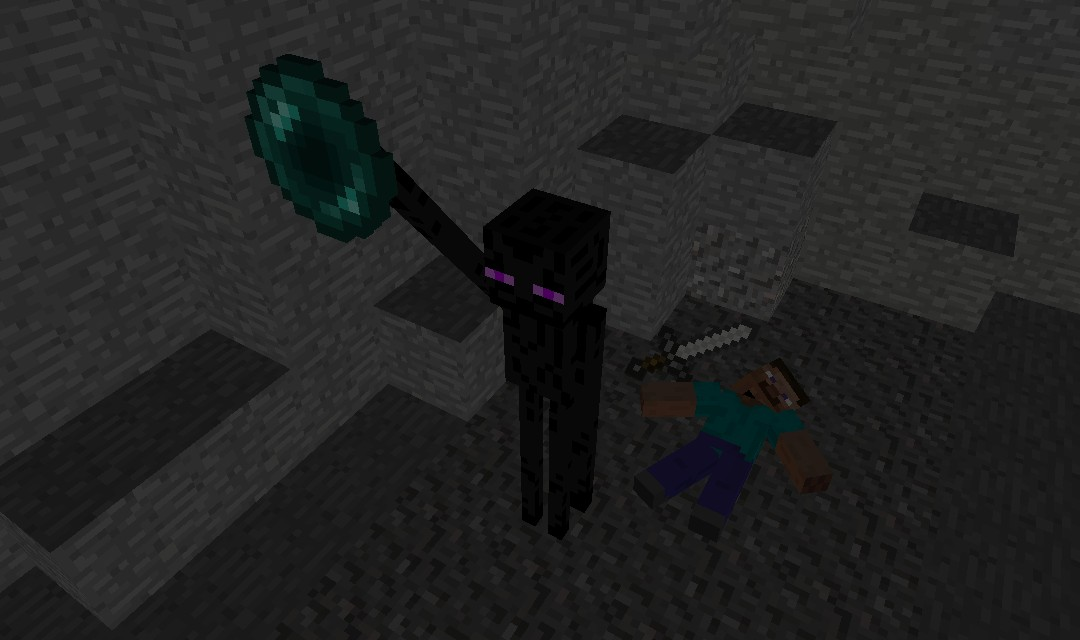 Enderman Gets His Ender Pearl Back Wallpaper